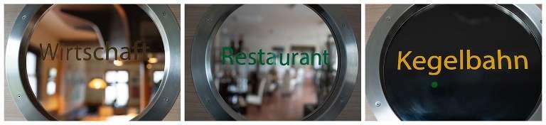 Restaurant - Wirtsstube - Biergarten - Kegelbahnen - alles zu