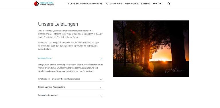 Fotokurs-NRW.de Website